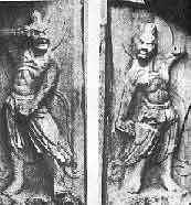 Les gardiens du temple de Sokkuram (datant du 8 ème siècle), les deux statues sont dans la position Kumgang